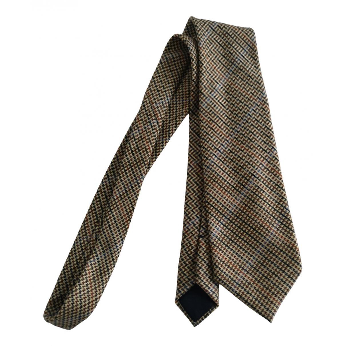 Loro Piana - Cravates   pour homme en laine - beige