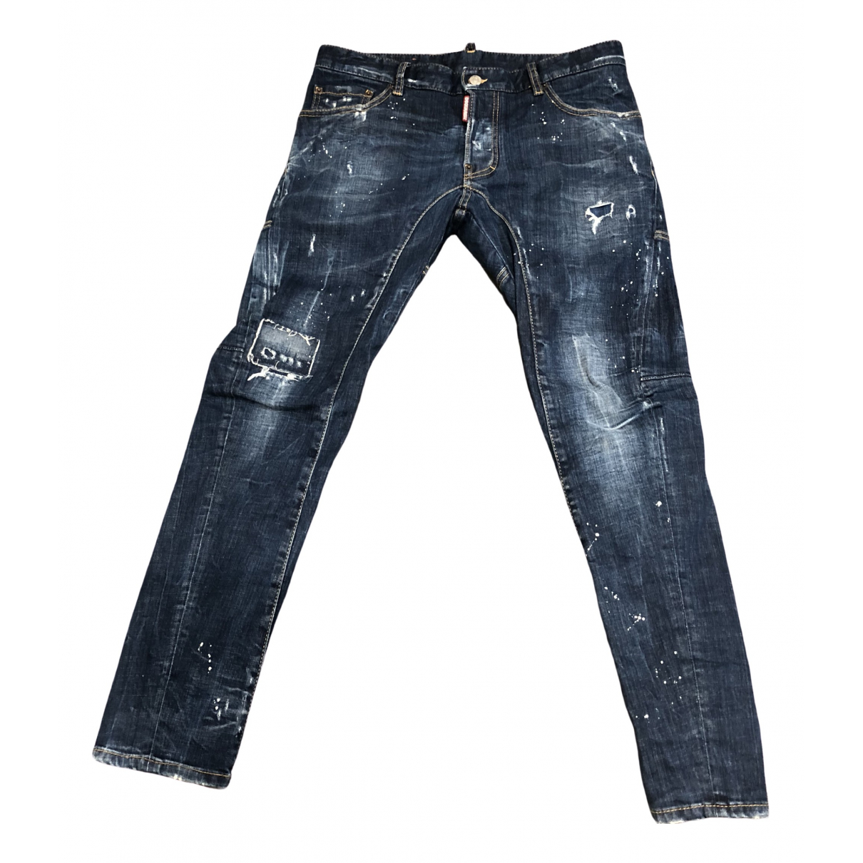 Dsquared2 \N Blue Cotton - elasthane Jeans for Men 30 US
