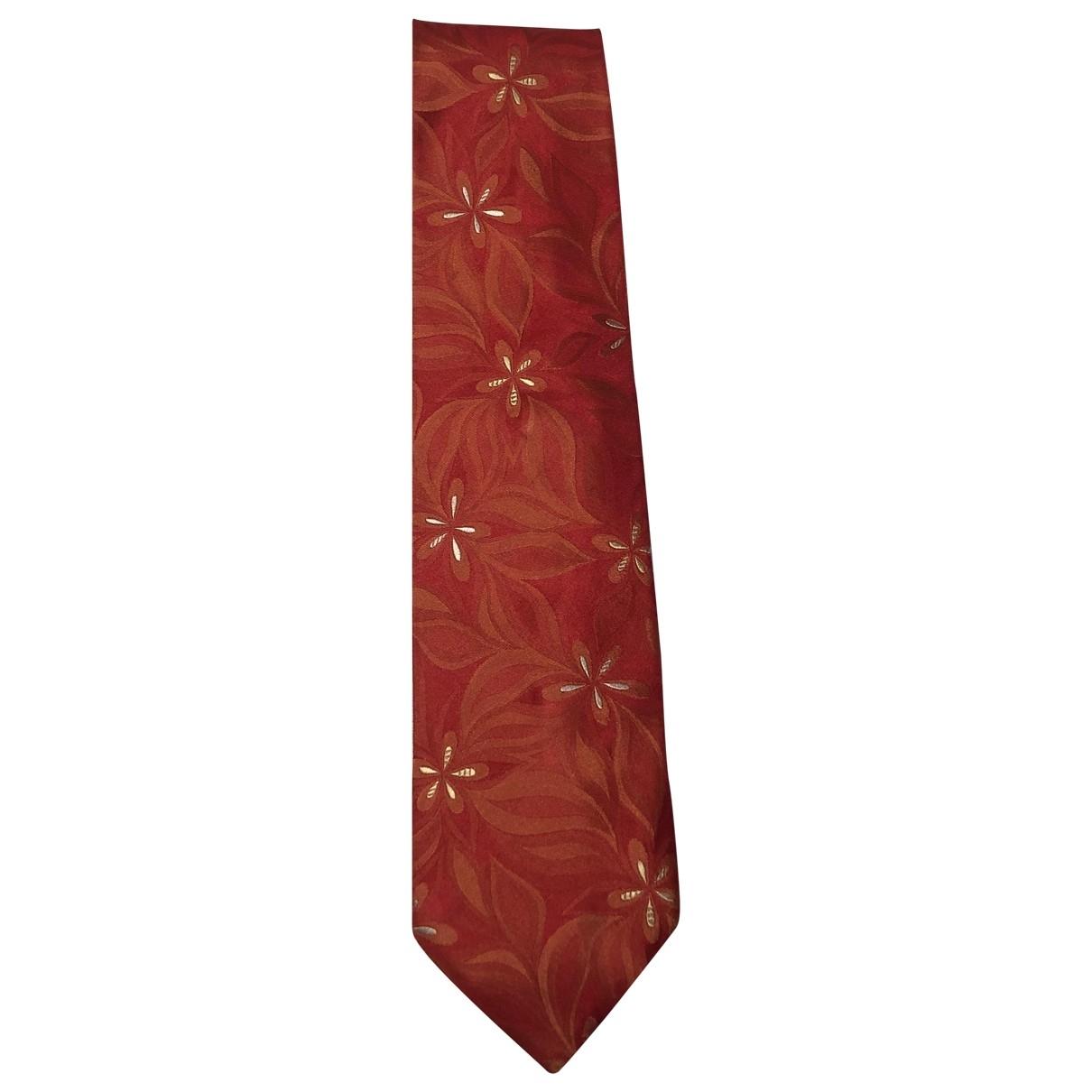 Hugo Boss \N Krawatten in  Rot Seide