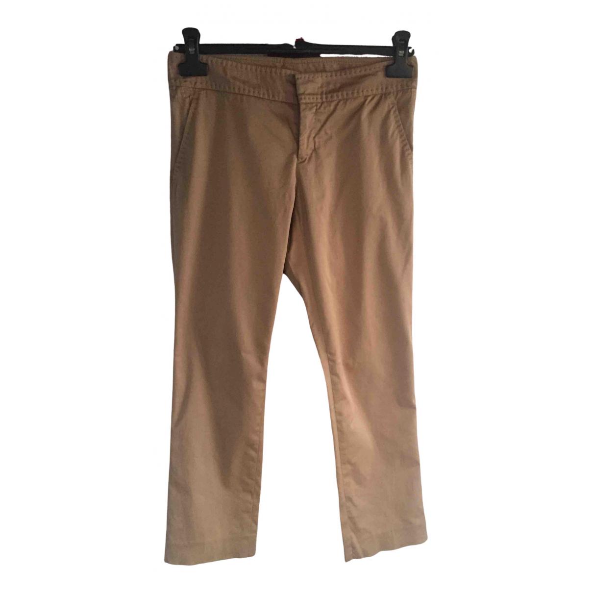 Gucci - Pantalon   pour femme en coton - camel
