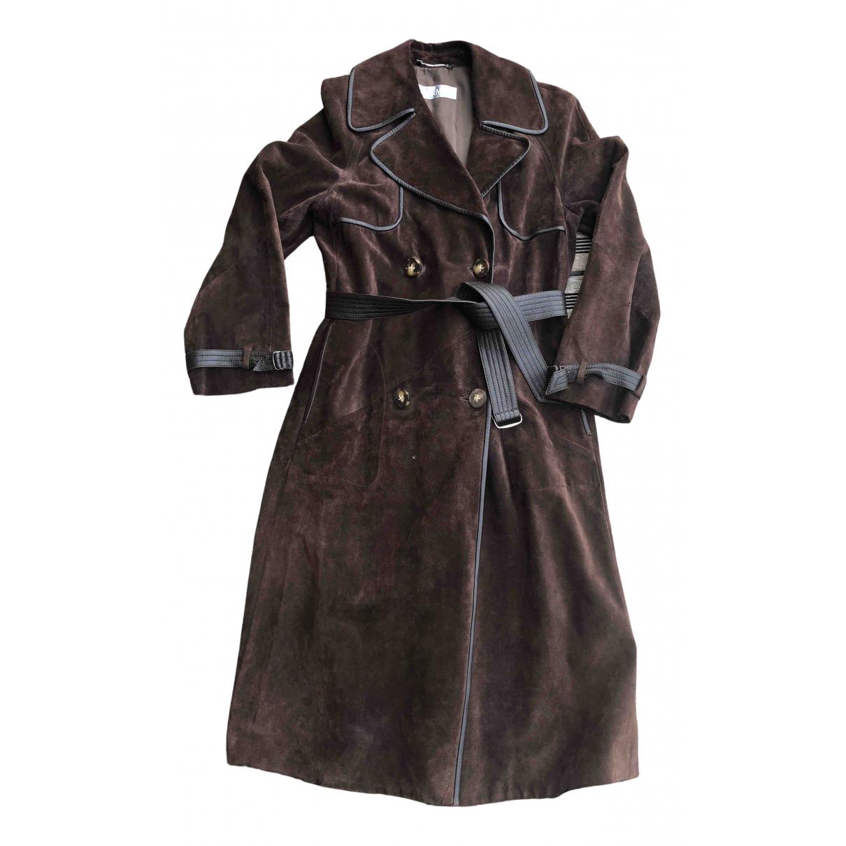 Max Mara N Brown Suede coat for Women 40 FR