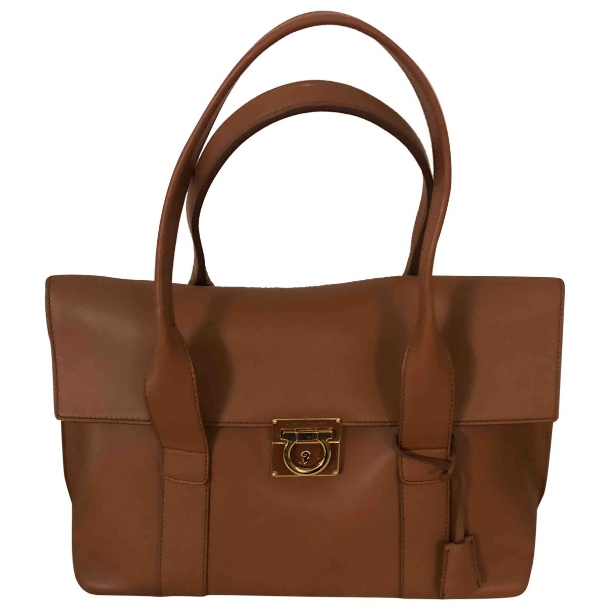 Salvatore Ferragamo Sofia Camel Leather handbag for Women \N