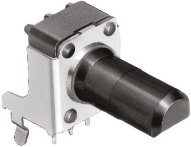 Alps Alpine 1 Gang Rotary Potentiometer with an 6 mm Dia. Shaft - 10kΩ, ±20%, 0.05W Power Rating, Logarithmic, Through