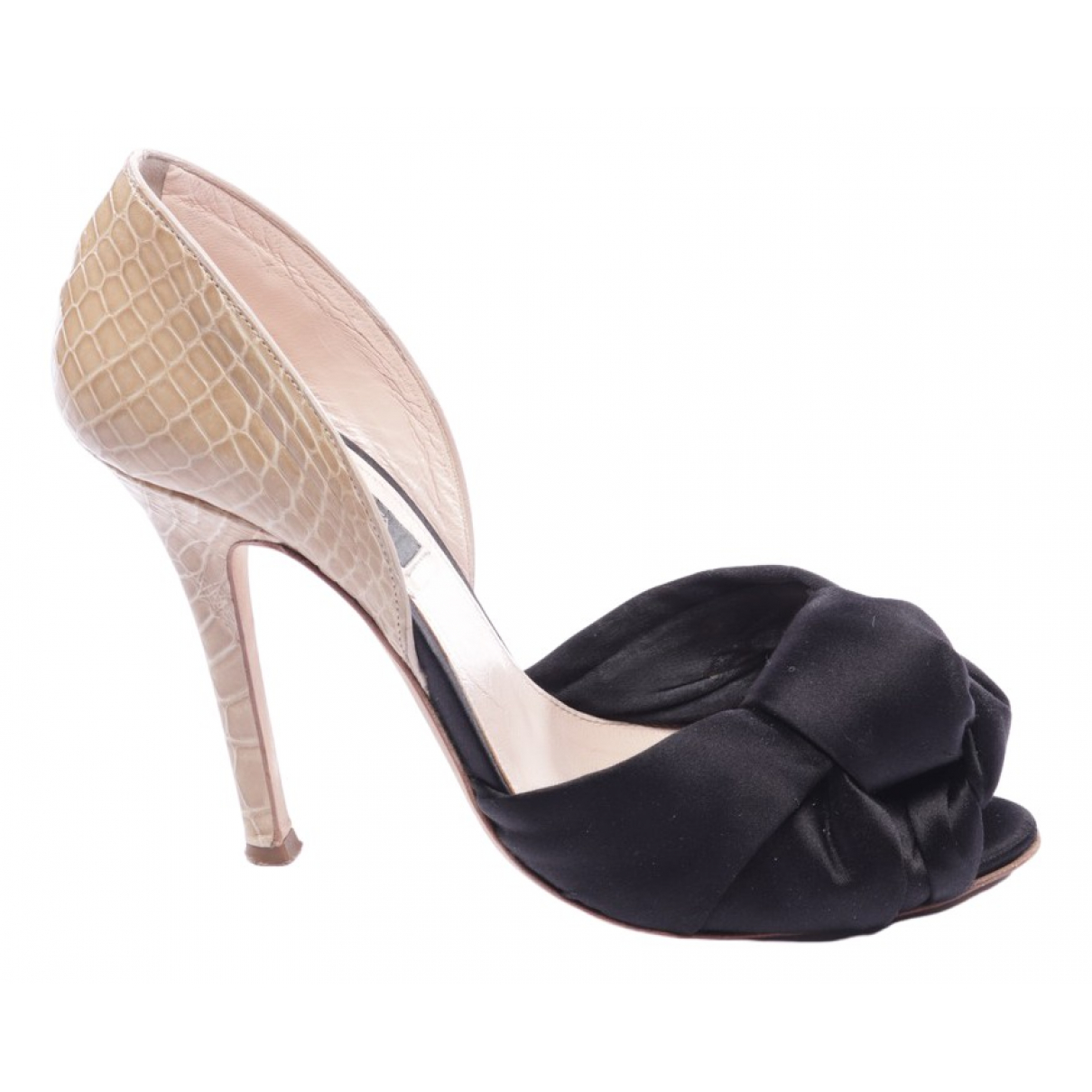 Giambattista Valli \N Black Leather Heels for Women 39.5 EU