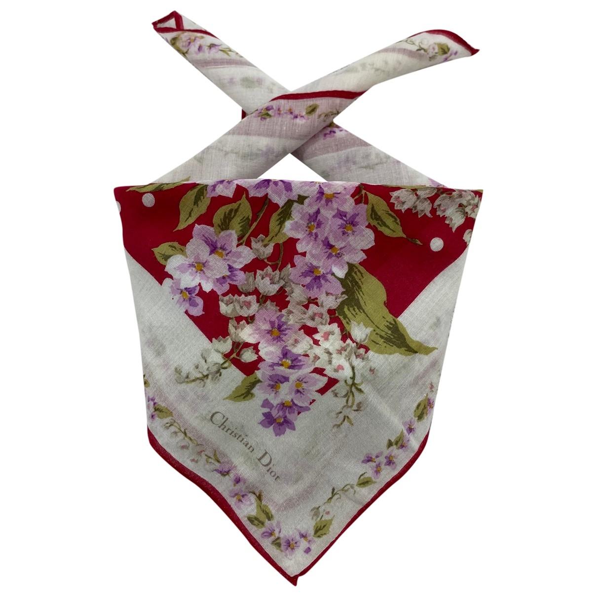 Dior \N Multicolour Cotton scarf for Women \N