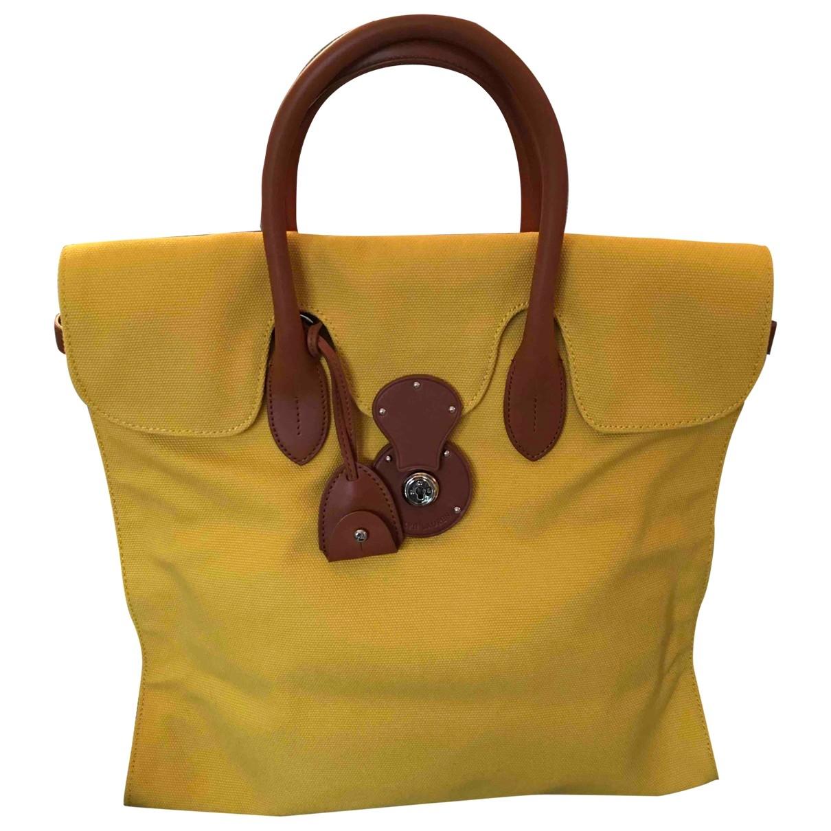 Ralph Lauren \N Yellow Cotton handbag for Women \N