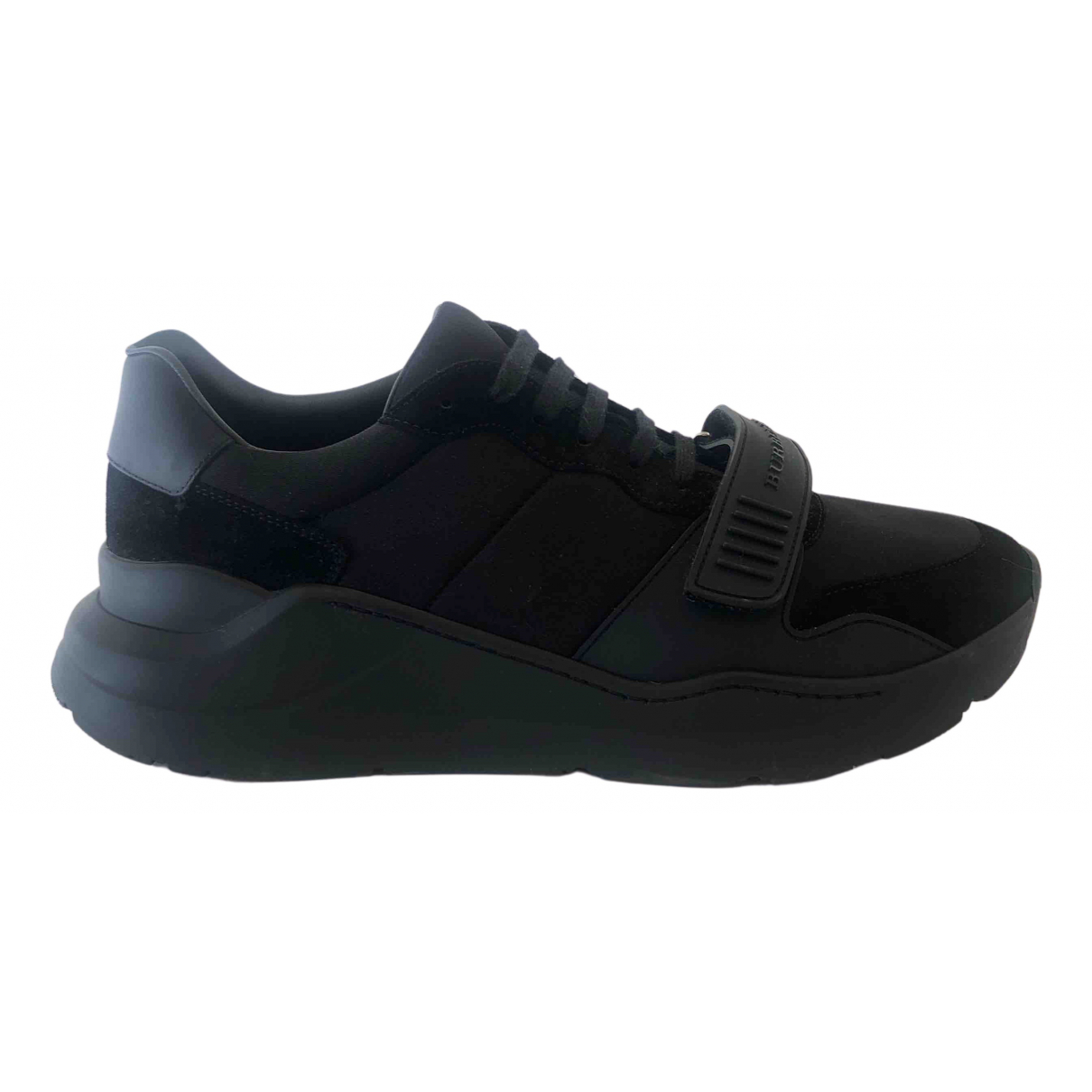 Burberry - Baskets   pour homme en toile - noir