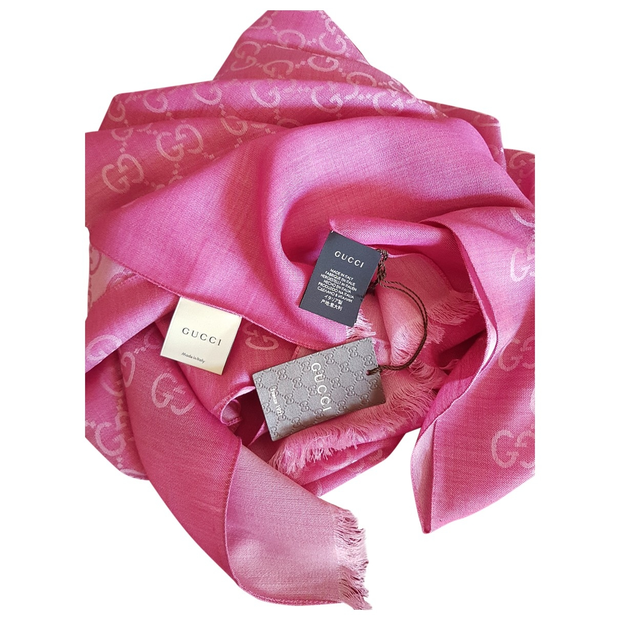 Gucci \N Schal in  Rosa Seide
