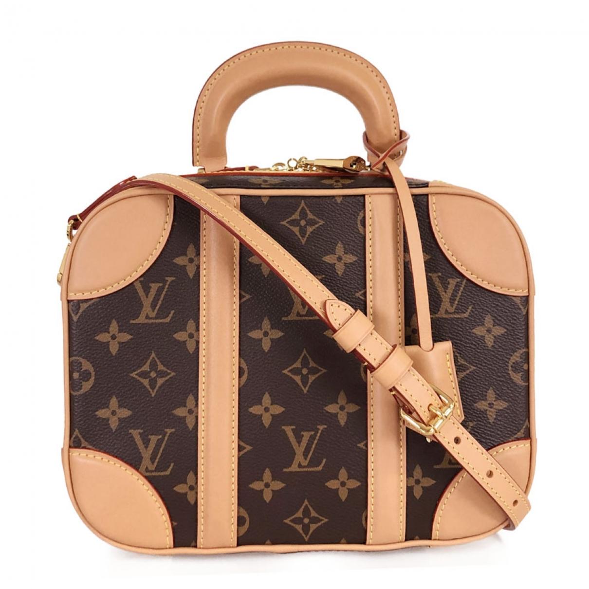 Louis Vuitton - Sac a main Valisette pour femme en toile - marron
