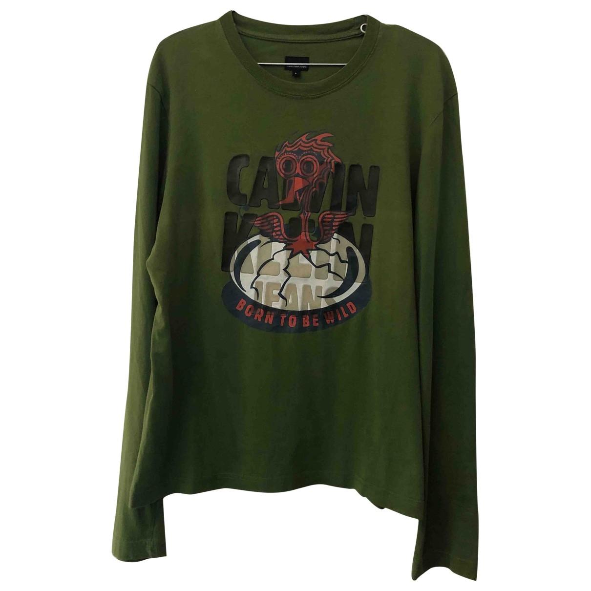 Calvin Klein - Tee shirts   pour homme en coton - vert