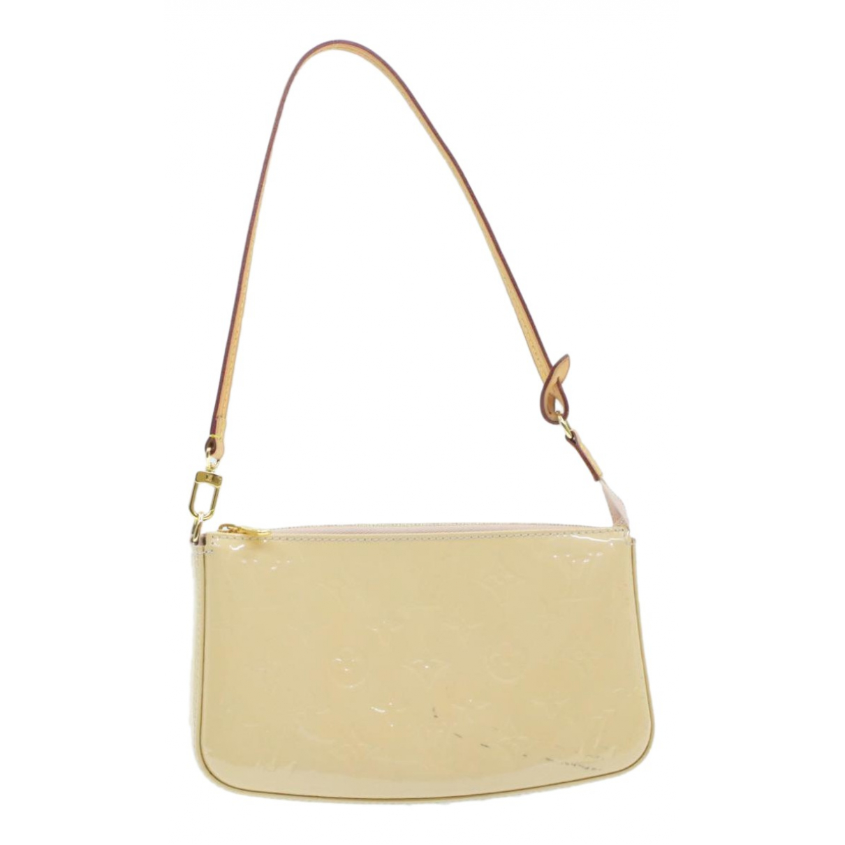 Louis Vuitton Pochette Accessoire Clutch in  Beige Lackleder