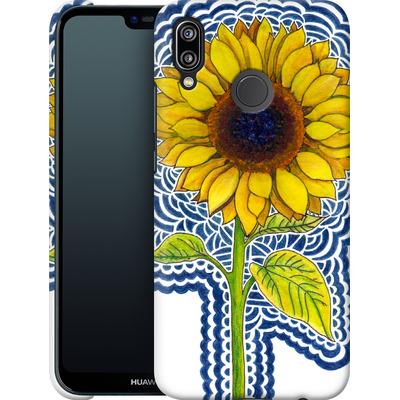Huawei P20 Lite Smartphone Huelle - Sunflower Drawing von Kaitlyn Parker
