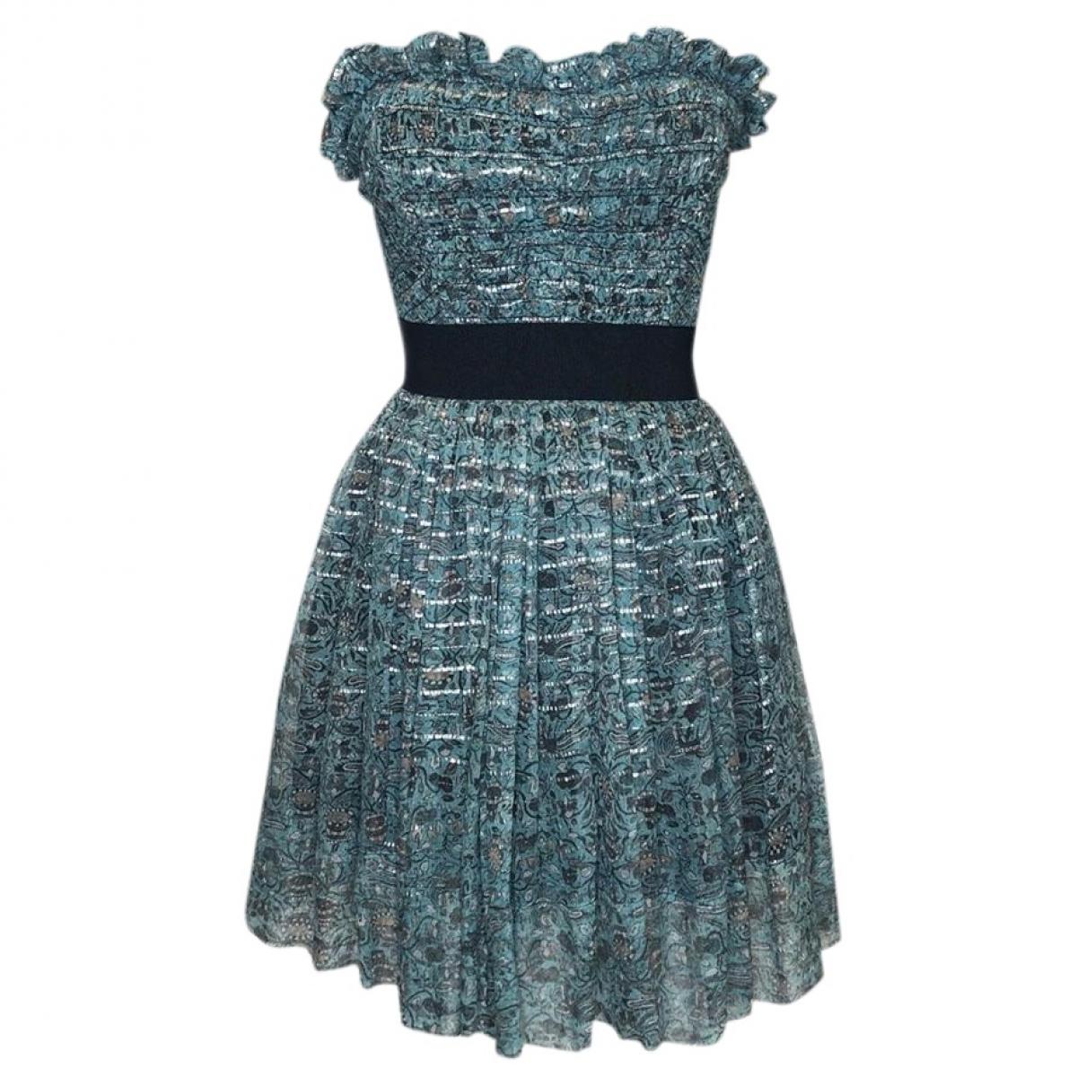 Isabel Marant Etoile \N Kleid in  Blau Seide
