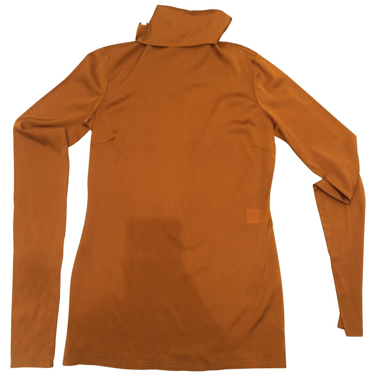 Celine \N Top in  Orange Seide