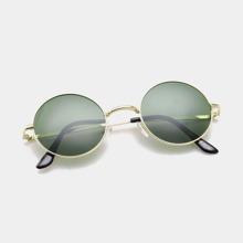 Men Metal Frame Round Sunglasses