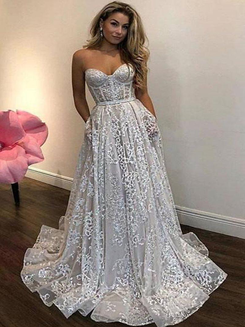 Ericdress Sleeveless A-Line Sweetheart Evening Dress