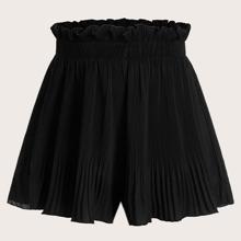 Shorts mit Raffung und Falten