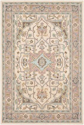 Joli JOI-1007 2' x 3' Rectangle Traditional Rug in Olive  Butter  Mauve  Taupe  Aqua  Dark