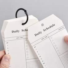 Bloc de notas de horario diario con hojas sueltas 52 piezas