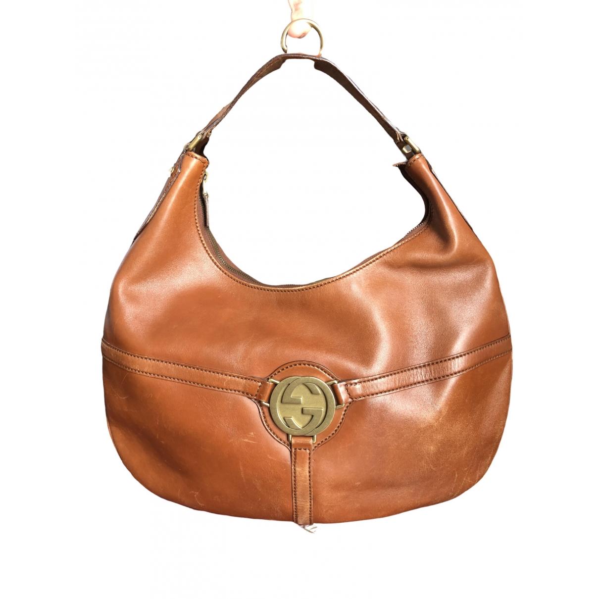 Gucci Interlocking Brown Leather handbag for Women \N