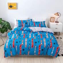 Set ropa de cama con patron geometrico sin relleno