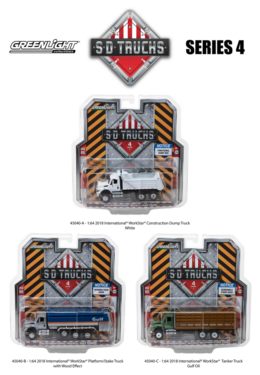 2018 International Workstar Trucks Set of 3