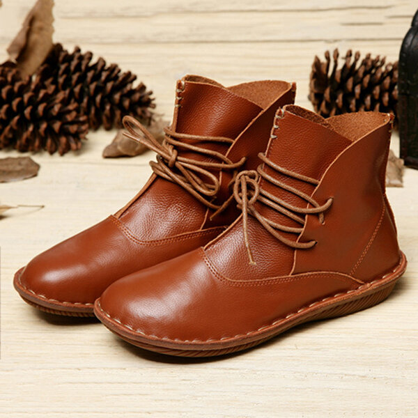 Handmade Genuine Leather Comfy Vintage Ankle Boots