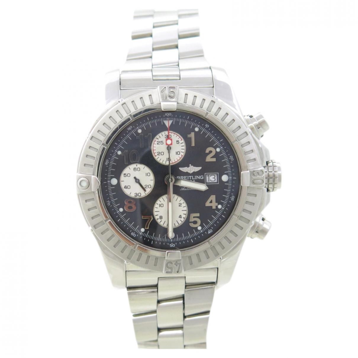 Breitling Avenger Silver Steel watch for Men \N