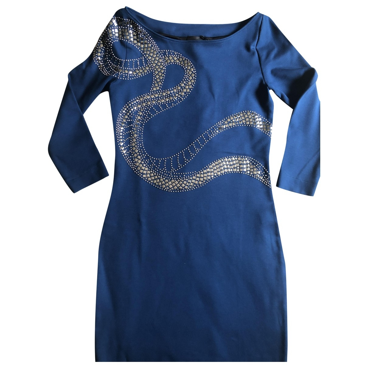 Just Cavalli \N Kleid in  Blau Viskose