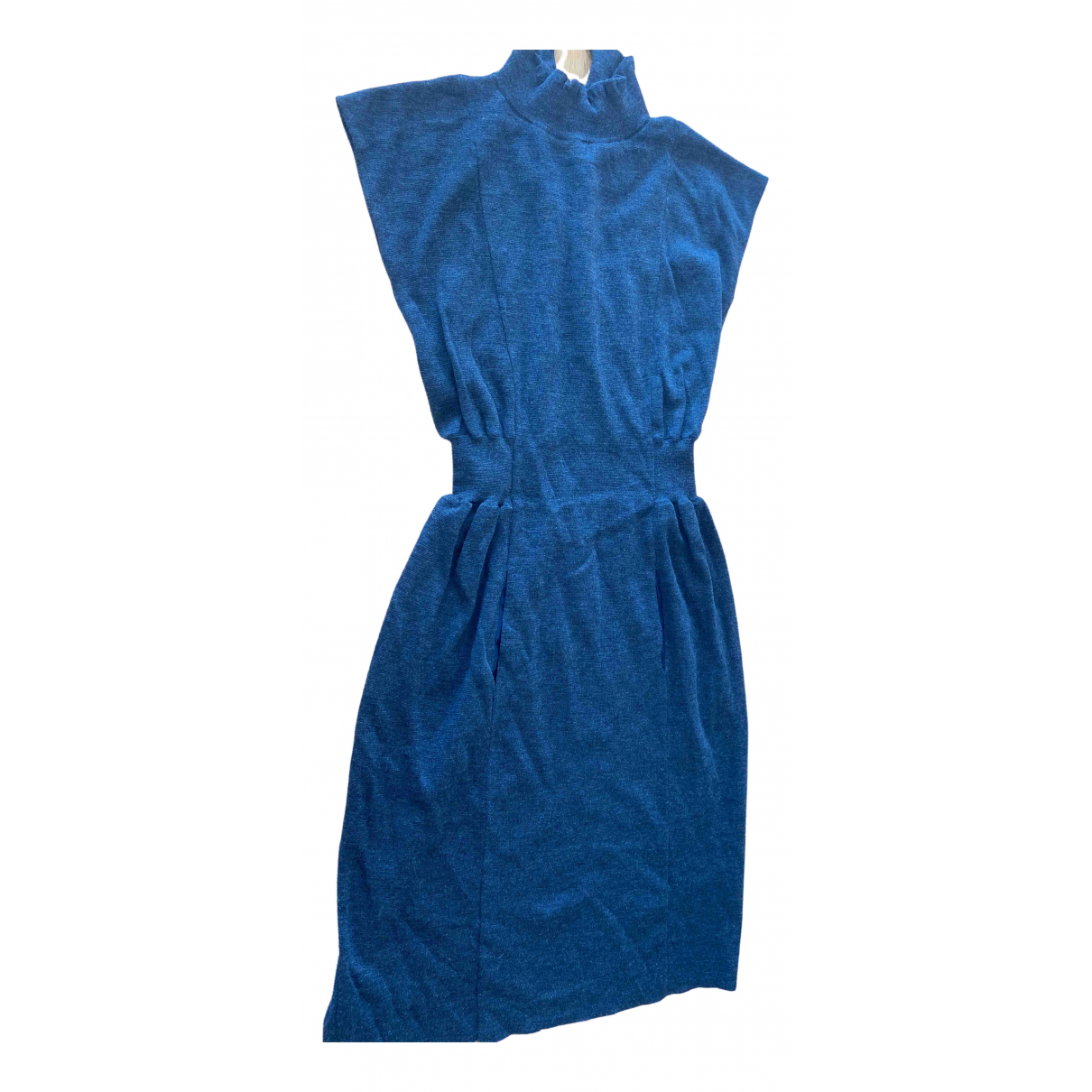 Yves Saint Laurent \N Kleid in  Grau Wolle