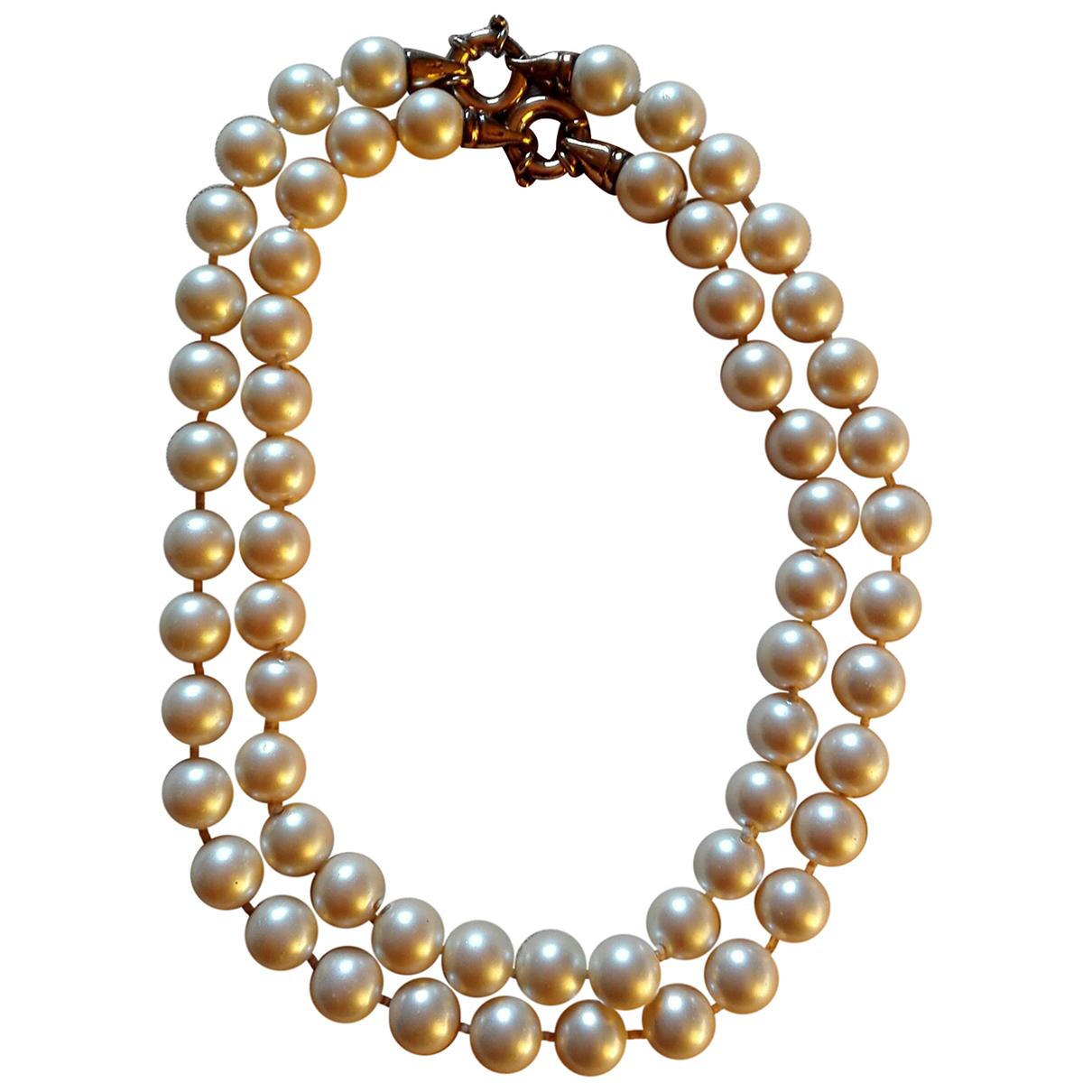 Autre Marque - Collier   pour femme en perles - beige