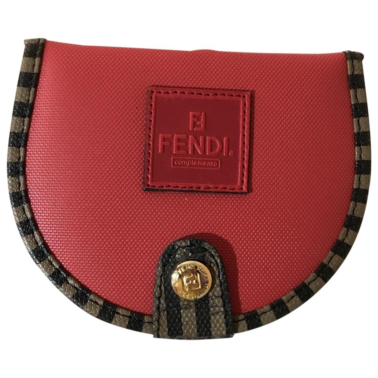 Fendi - Petite maroquinerie   pour femme en toile - rouge