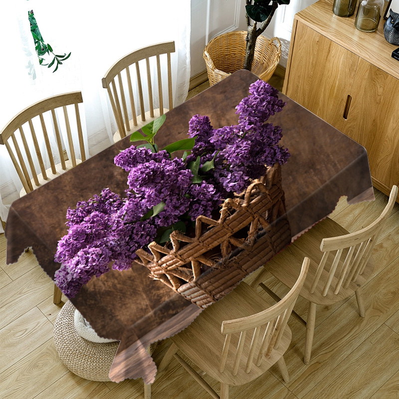 Polyester Waterproof Oilproof European Style 3D Tablecloth