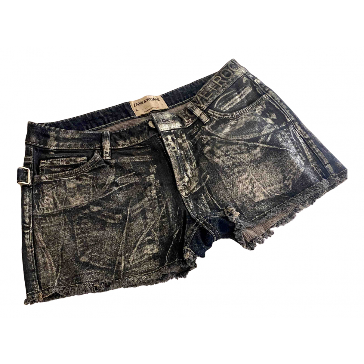 Zadig & Voltaire N Metallic Denim - Jeans Shorts for Women 40 FR