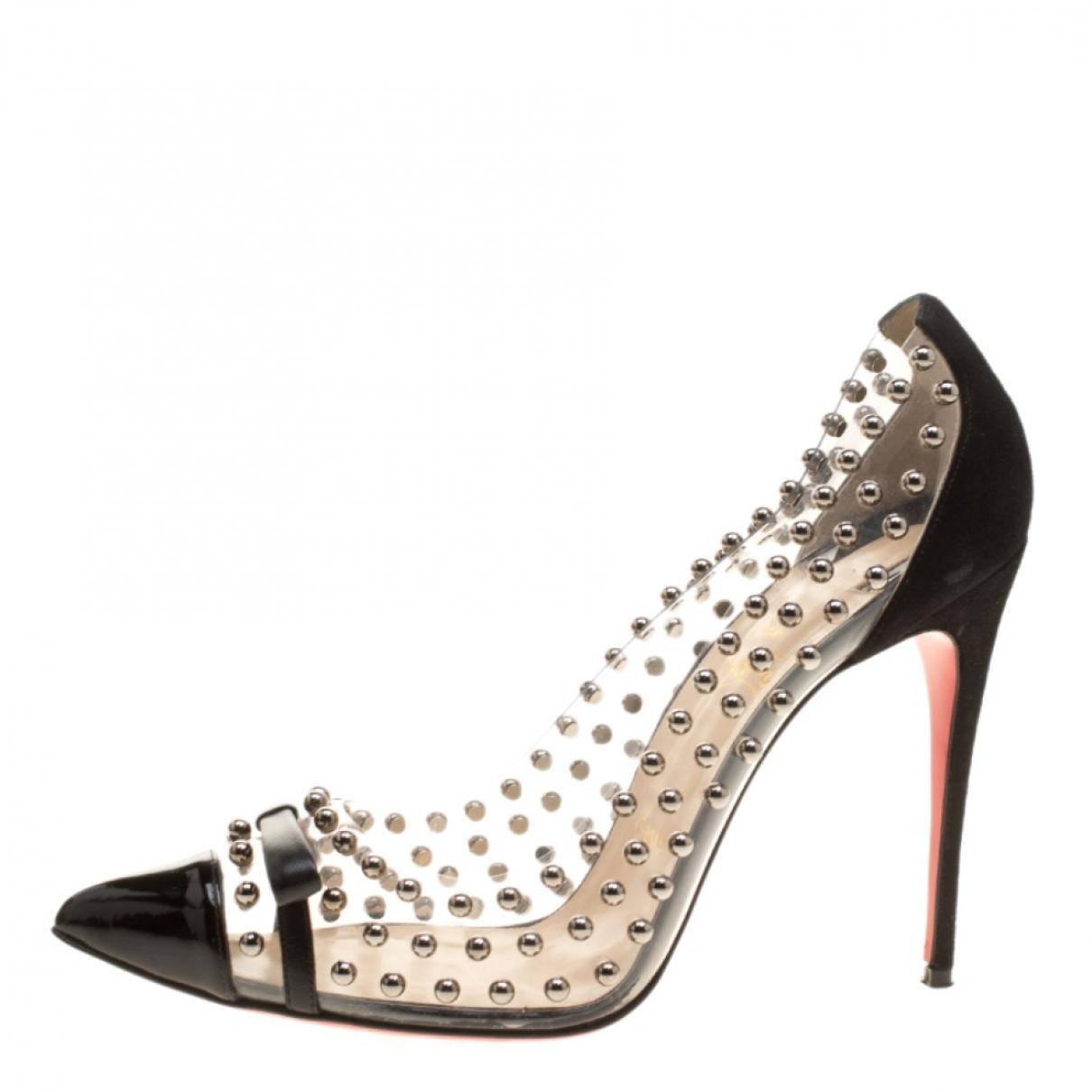 Christian Louboutin N Black Suede Heels for Women 9.5 US