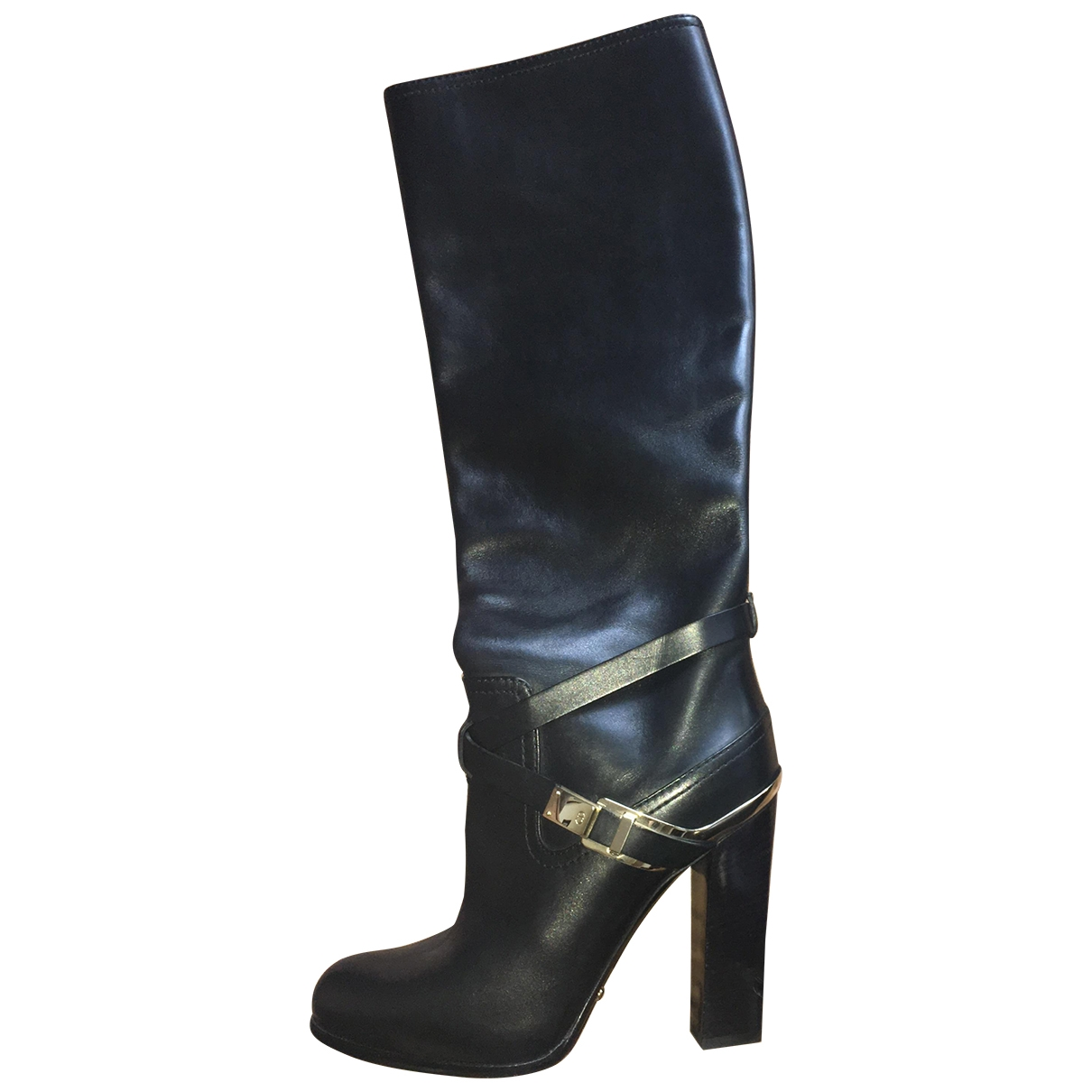 Dior \N Black Leather Boots for Women 36.5 EU
