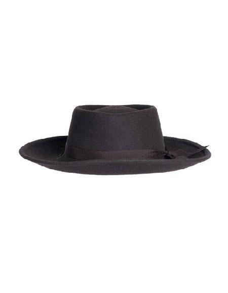 Mens Brown Wide Brim Fedora - Earp Zoot Hat