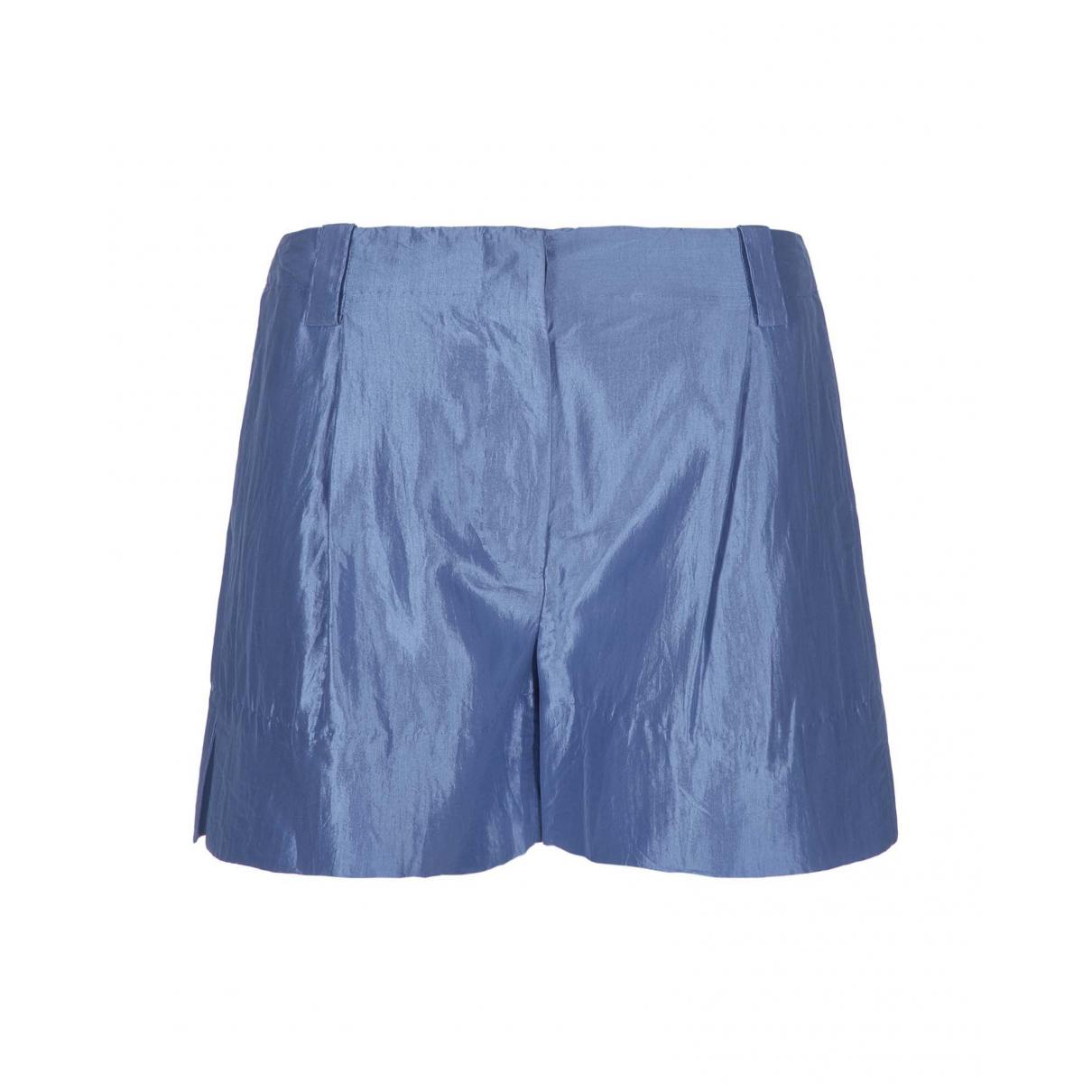 Stella Mccartney \N Shorts in  Blau Seide