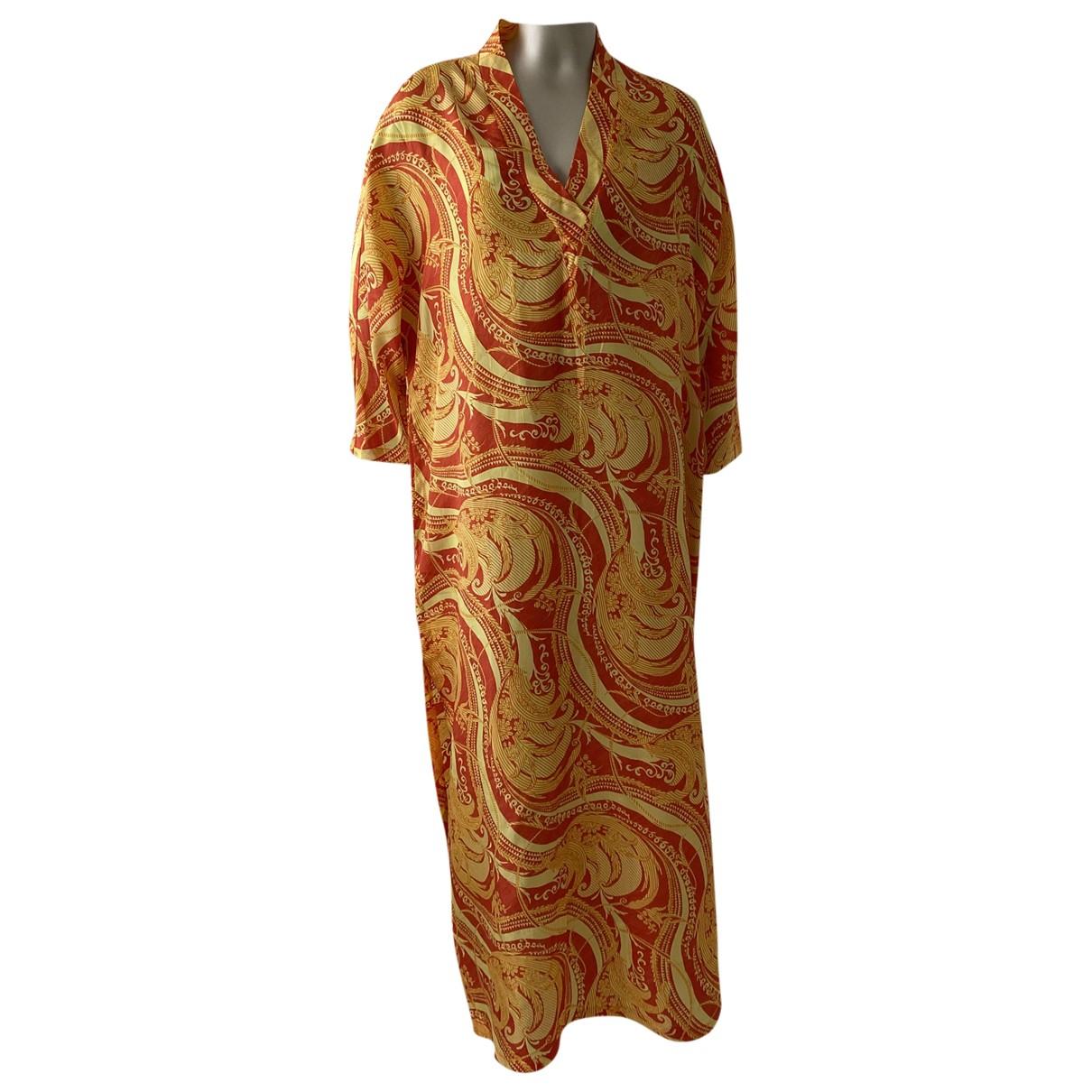 Gianfranco Ferre - Robe   pour femme en soie - orange