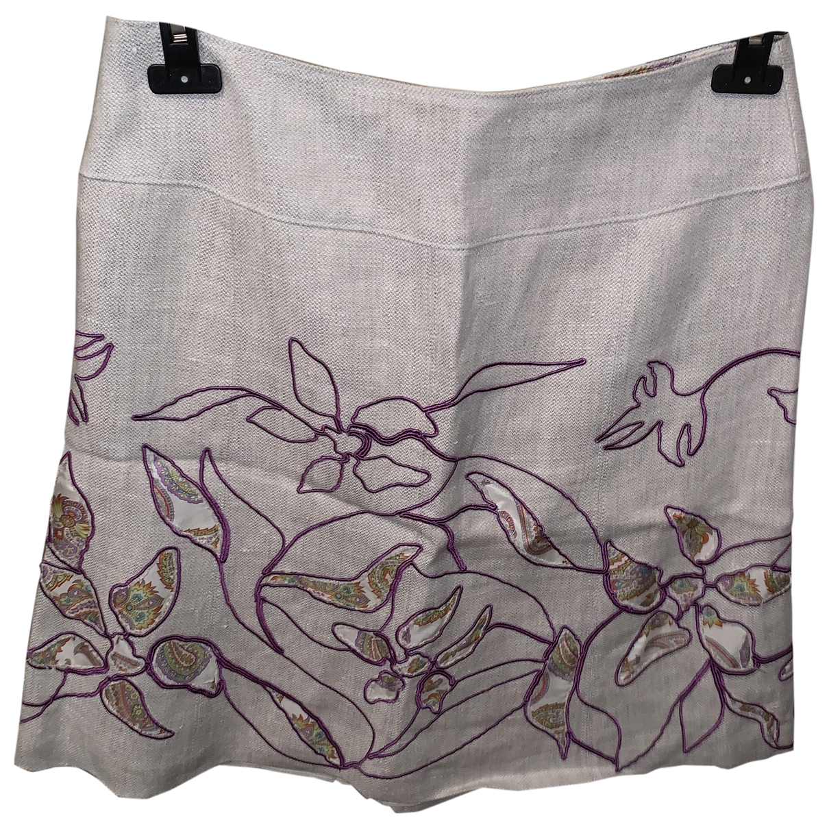 Etro \N Beige Linen skirt for Women 44 IT
