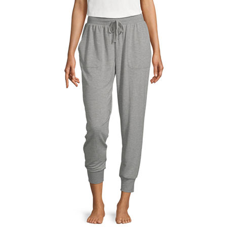 Ambrielle Womens French Terry Pajama Pants, Large , Gray