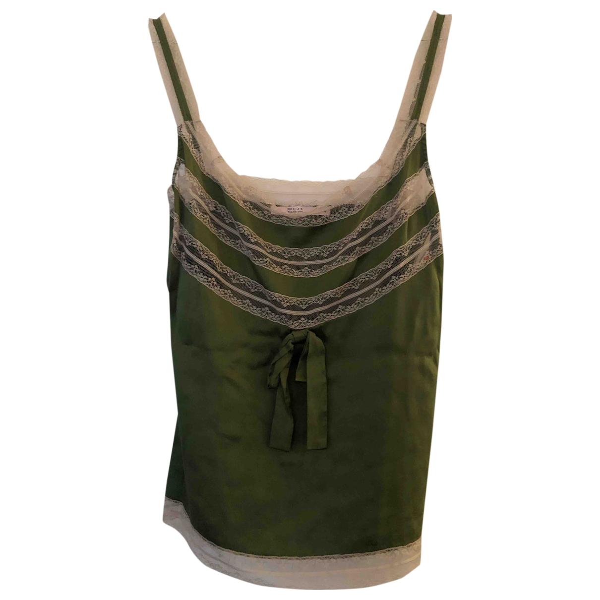 Red Valentino Garavani - Top   pour femme en soie - vert