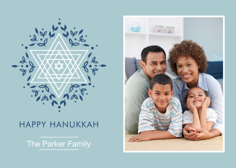 Hanukkah Photo Cards Flat Matte Photo Paper Cards with Envelopes, 5x7, Card & Stationery -Everlasting Star Hanukkah