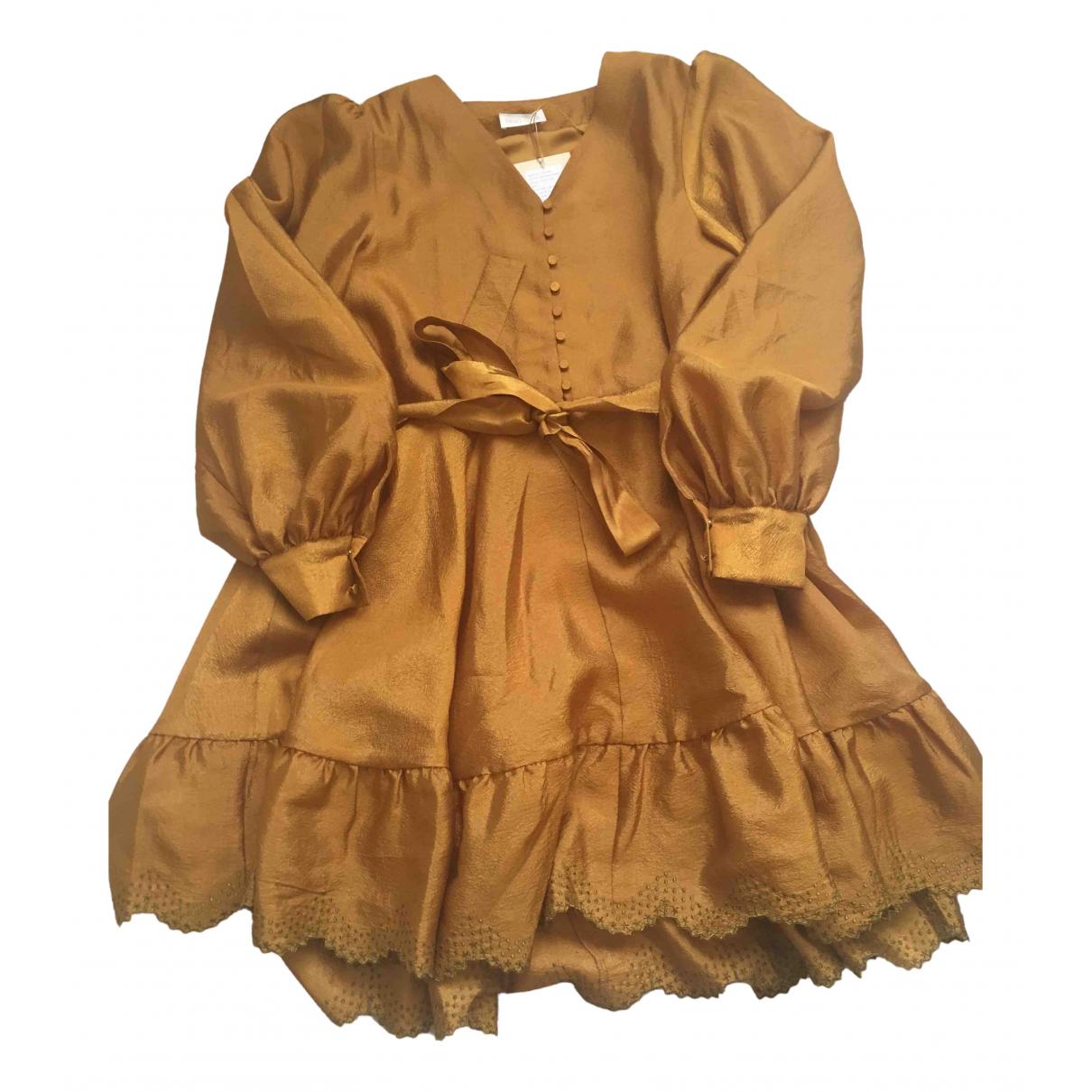Stine Goya \N Kleid in  Gold Polyester