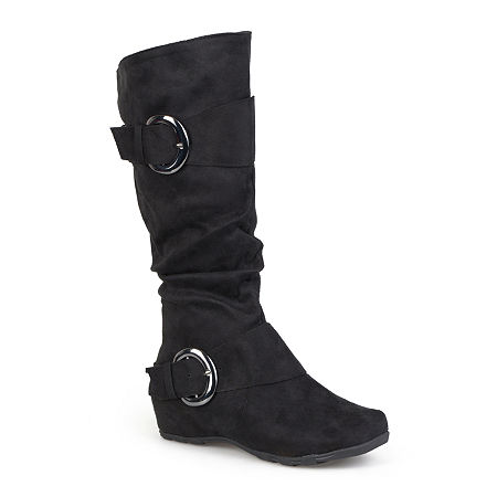 Journee Collection Womens Jester Wide Calf Slouch Boots, 8 Medium, Black