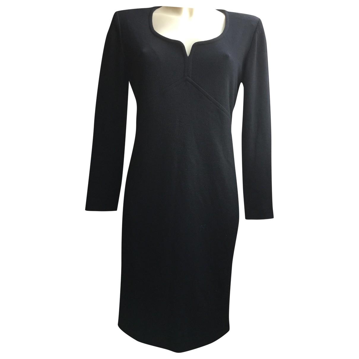 Yves Saint Laurent \N Black Wool dress for Women 38 FR