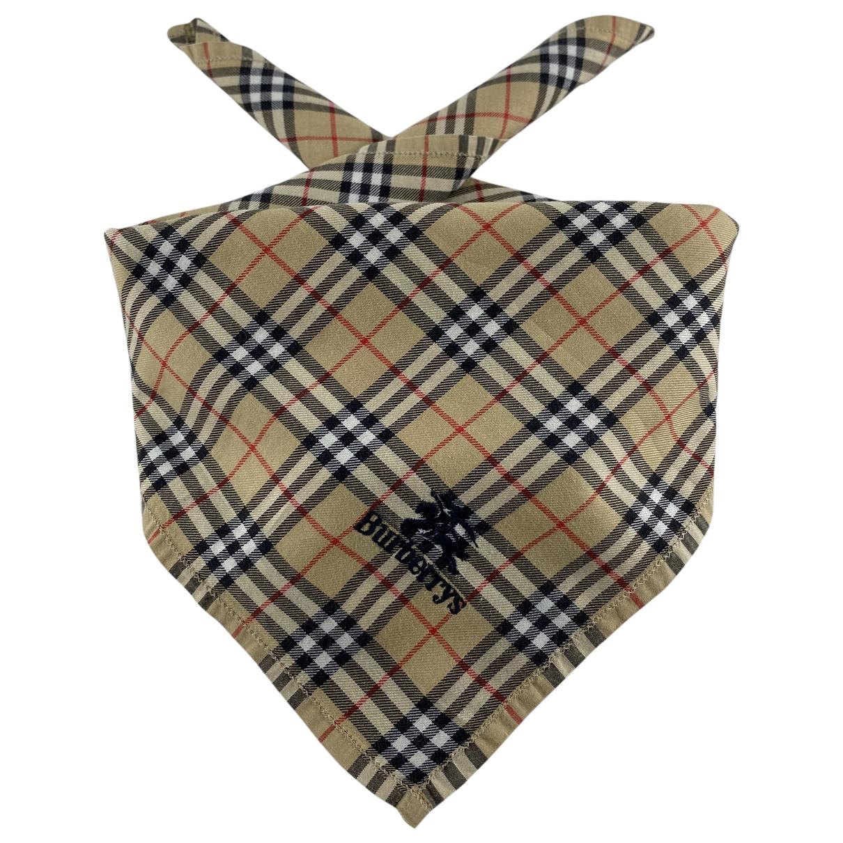 Burberry \N Beige Cotton scarf for Women \N
