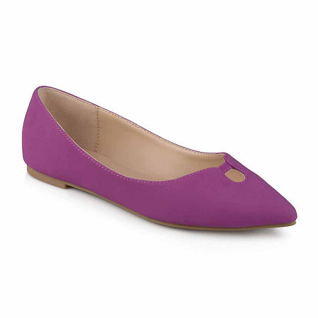 Journee Collection Womens Hildy Ballet Flats, 6 Medium, Purple