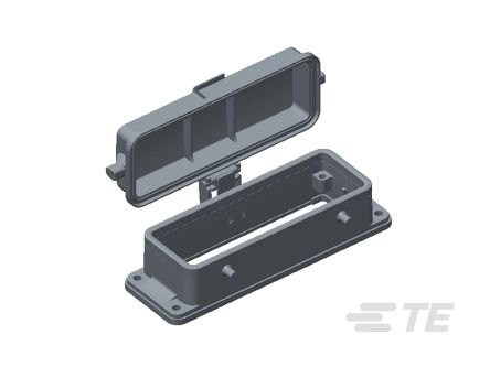 TE Connectivity HDC Bottom Entry Heavy Duty Power Connector Housing, Panel Mount (7)
