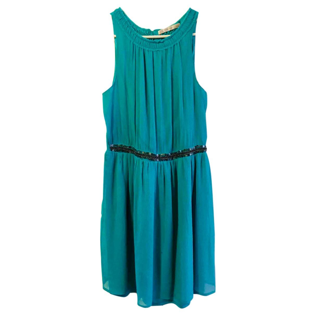 Zara - Robe   pour femme en coton - elasthane - turquoise